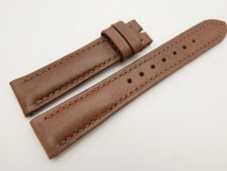 18mm/16mm Brown Genuine Vegtan CALF Skin Leather Watch Strap #WT3084