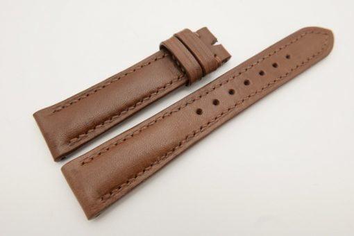 18mm/16mm Brown Genuine Vegtan CALF Skin Leather Watch Strap #WT3084