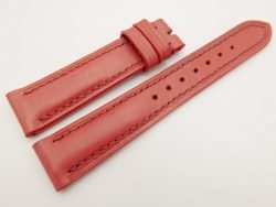 18mm/16mm Red Genuine Vegtan CALF Skin Leather Watch Strap #WT3085
