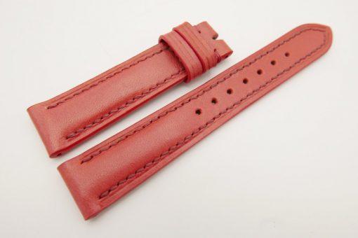 18mm/16mm Red Genuine Vegtan CALF Skin Leather Watch Strap #WT3085