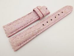 18mm/16mm Pink Genuine Python Skin Leather Watch Strap #WT3088