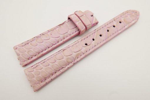 18mm/16mm Pink Genuine Python Skin Leather Watch Strap #WT3088
