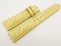 18mm/16mm Yellow Genuine Python Skin Leather Watch Strap #WT3091