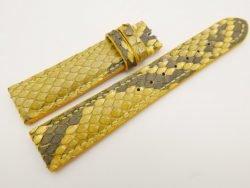 18mm/16mm Yellow Genuine Python Skin Leather Watch Strap #WT3092
