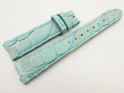 18mm/16mm Baby Blue Genuine Python Skin Leather Watch Strap #WT3094