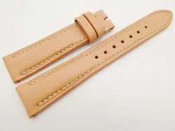 19mm/16mm Beige Genuine Vegtan CALF Skin Leather Watch Strap #WT3100