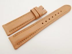 19mm/16mm Beige Genuine Vegtan CALF Skin Leather Watch Strap #WT3101