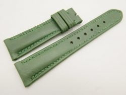 21mm/18mm Green Genuine Vegtan CALF Skin Leather Watch Strap #WT3112