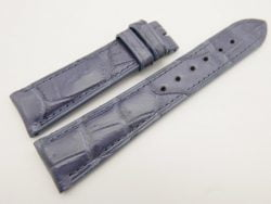 21mm/18mm Navy Blue Genuine CROCODILE Skin Leather Watch Strap #WT3119