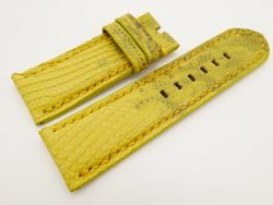 26mm/26mm Yellow Genuine Lizard Skin Leather Watch Strap for PANERAI #WT3125