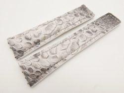 22mm/18mm White Genuine Python Skin Deployment Strap for TAG HEUER 105/85mm #WT3137