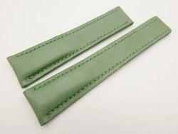 22mm/18mm Green Genuine Vegtan CALF Skin Deployment strap for Breitling #WT3143