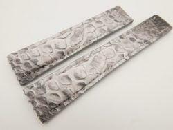 22mm/18mm White Genuine Python Skin Deployment strap for Breitling #WT3153