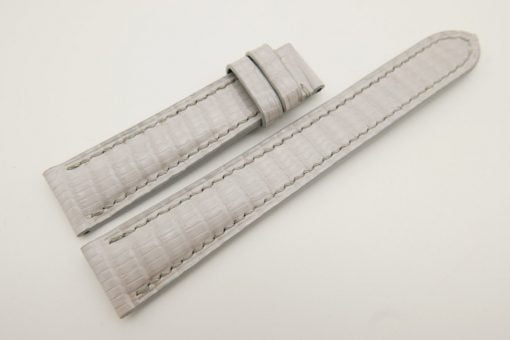 18mm/16mm White Genuine Lizard Skin Leather Watch Strap #WT3161