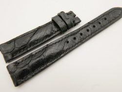 16mm/14mm Black Genuine PYTHON Skin Leather Watch Strap #WT3177