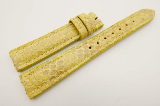 16mm/14mm Yellow Genuine PYTHON Skin Leather Watch Strap #WT3178