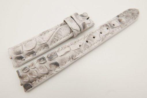 16mm/14mm White Genuine PYTHON Skin Leather Watch Strap #WT3180