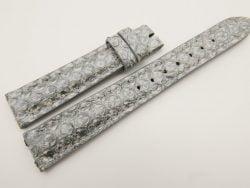 16mm/14mm Gray Genuine PYTHON Skin Leather Watch Strap #WT3182