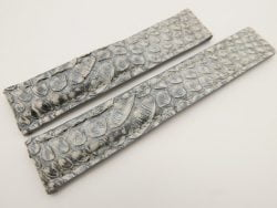 19mm/18mm Gray Genuine PYTHON Skin Leather Deployment Strap for TAG HEUER #WT3213