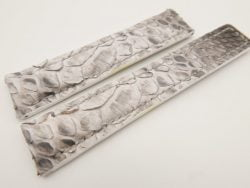 20mm/18mm White Genuine PYTHON Skin Leather Deployment Strap for Tag Heuer #WT3226