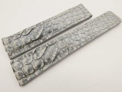 20mm/18mm Gray Genuine PYTHON Skin Leather Deployment Strap for Tag Heuer #WT3230