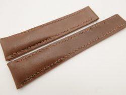 20mm/18mm Brown Genuine Vegtan CALF Skin Deployment strap for Breitling #WT3241