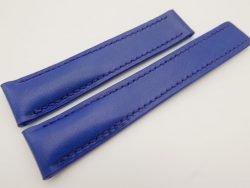 20mm/18mm Blue Genuine Vegtan CALF Skin Deployment strap for Breitling #WT3243