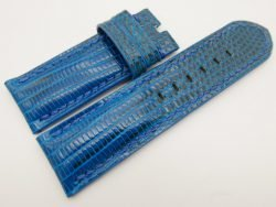 26mm/26mm Blue Genuine Lizard Skin Leather Watch Strap for PANERAI #WT3273