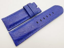 26mm/26mm Light Blue Genuine Ostrich Skin Leather Watch Strap for PANERAI #WT3276