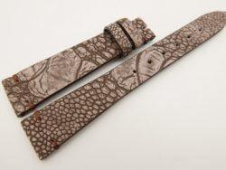 18mm/14mm Brown Genuine OSTRICH Skin Leather Watch Strap Stonewash Band #WT3284