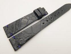 18mm/14mm Dark Navy Blue Genuine OSTRICH Skin Leather Watch Strap Band #WT3285