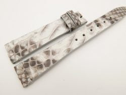 18mm/14mm White Genuine PYTHON Skin Leather Watch Strap Band #WT3291