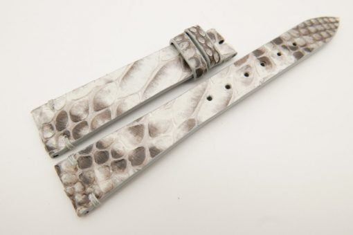 18mm/14mm White Genuine PYTHON Skin Leather Watch Strap Band #WT3291