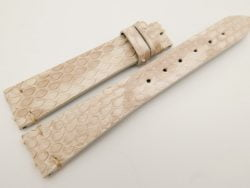 18mm/14mm Beige Genuine PYTHON Skin Leather Watch Strap Band #WT3292