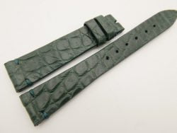 18mm/14mm Green Genuine CROCODILE Skin Leather Watch Strap Band #WT3299