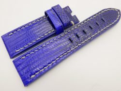 24mm/22mm Cobalt Blue Genuine LIZARD Skin Leather Watch Strap for Panerai #WT3310