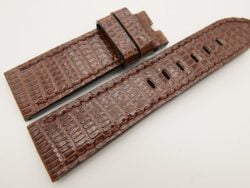 24mm/22mm Brown Genuine LIZARD Skin Leather Watch Strap for Panerai #WT3315