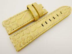 24mm/22mm Yellow Genuine PYTHON Skin Leather Watch Strap for Panerai #WT3321