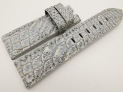 24mm/22mm Gray Genuine PYTHON Skin Leather Watch Strap for Panerai #WT3324