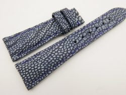 23mm/18mm Navy Blue Genuine OSTRICH Skin Leather Watch Strap #WT3333