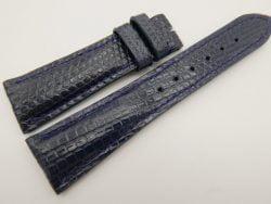 23mm/18mm Dark Navy Blue Genuine LIZARD Skin Leather Watch Strap #WT3338