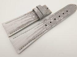 23mm/18mm White Genuine LIZARD Skin Leather Watch Strap #WT3339