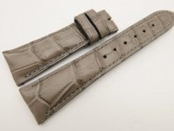 23mm/18mm Light Gray Genuine CROCODILE Skin Leather Watch Strap #WT3347