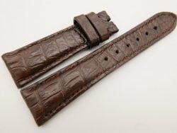 23mm/18mm Brown Genuine CROCODILE Skin Leather Watch Strap #WT3349
