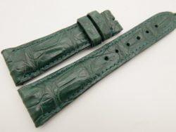 23mm/18mm Green Genuine CROCODILE Skin Leather Watch Strap #WT3354