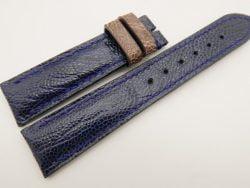 20mm/18mm Dark Navy Blue Genuine OSTRICH Skin Leather Watch Strap #WT3358