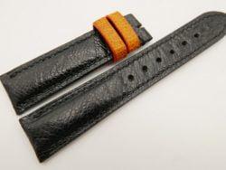 20mm/18mm Black Genuine OSTRICH Skin Leather Watch Strap #WT3361