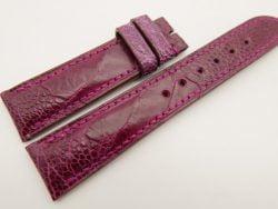 20mm/18mm Pink Genuine OSTRICH Skin Leather Watch Strap #WT3371
