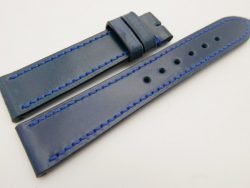 20mm/18mm Navy Blue Genuine Shell Cordovan Leather Watch Strap #WT3374