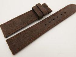 20mm/18mm Dark Brown Genuine Suede Leather Watch strap #WT3378